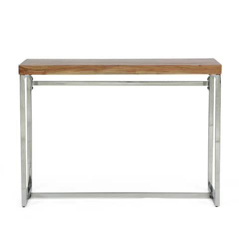 Berea Rustic Glam Handcrafted Acacia Wood Desk by Christopher Knight Home