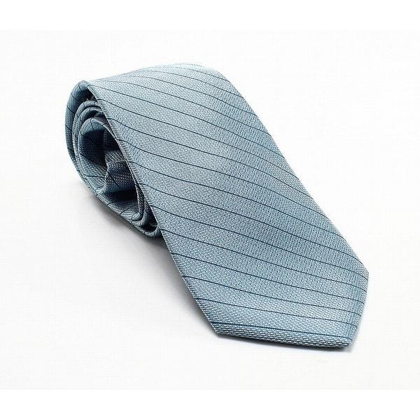 d67dedb210fb Shop Calvin Klein Aqua Slim Pastel Striped Men's Silk Neck Tie - On Sale -  Free Shipping On Orders Over $45 - Overstock - 26895296