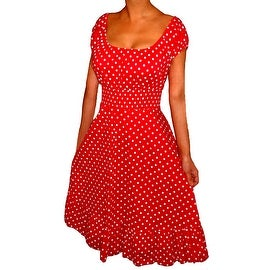 Funfash Plus Size Red Polka Dots Rockabilly Retro Womens Cocktail Dress