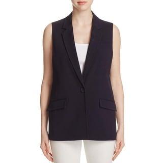 MICHAEL Michael Kors Womens Suit Vest Notch Collar Button Closure