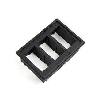 3Pcs Black Plastic Car Vehicle Power Window Switch Button Cover Frame