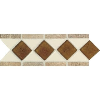 "Daltile FA20411LSTP Fashion Accents - 11"" x 4"" Decorative Accent Wall Tile - Var - almond / reef / noce"