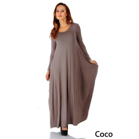 Simply Ravishing Maxi Boho Harem Long Sleeve Dress (Size: S-5X)