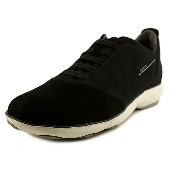 bc49f9c782 Shop Geox Nebula 17 Men Round Toe Canvas Black Sneakers - Free ...