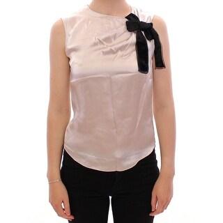 Dolce & Gabbana Dolce & Gabbana Silver Sleeveless Silk Blouse - it36-s