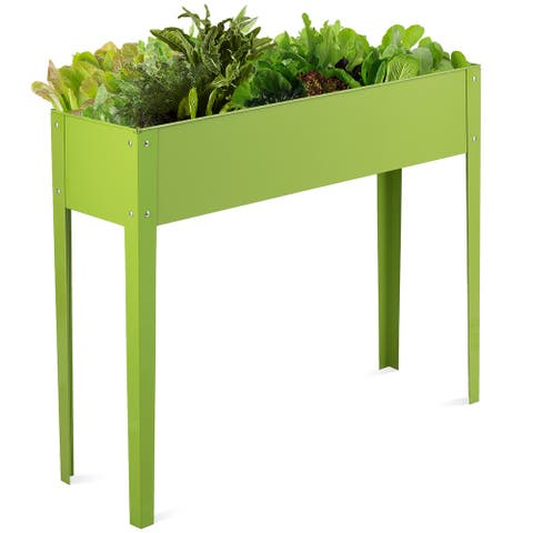 Costway 40''x12'' Outdoor Elevated Garden Plant Stand Raised Tall