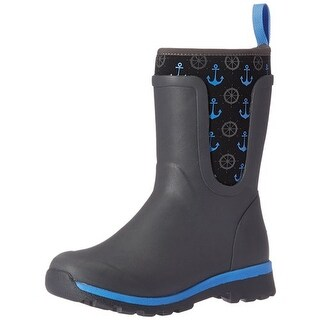Muck Boots Gray/Anchors Youth's Cambridge Boot w/ 3mm CR Flex Foam - Size 7