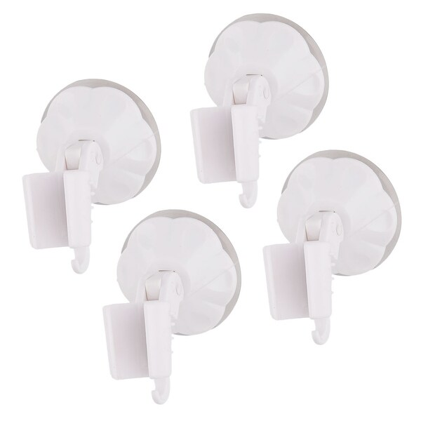 Washroom Fittings Suction Cup Wall Stick Shower Spray Holder White 4pcs
