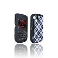 Speck Plaid Fitted Case for BlackBerry Bold 9650 (Black / White) (Bulk Packaging