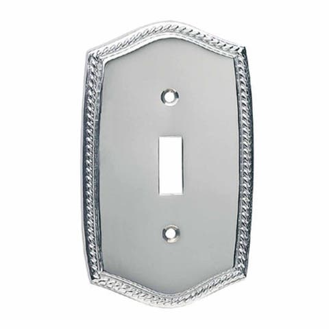 Renovators Supply 3.375'' x 5'' Single Roped Cover Chrome Finish Switch Plate - Silver