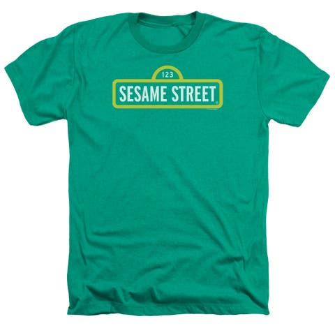 Sesame Street Logo Mens Heather Shirt