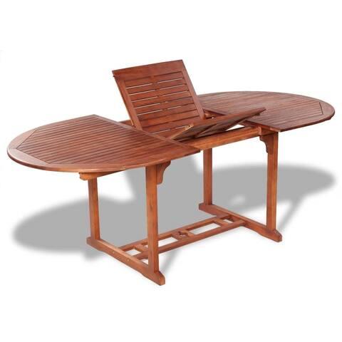 vidaXL Solid Acacia Wood Outdoor Dining Table Extendable Garden Furniture