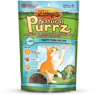 Zuke's Natural Purrz Healthy Moist Treats for Cats Tuna 3 oz