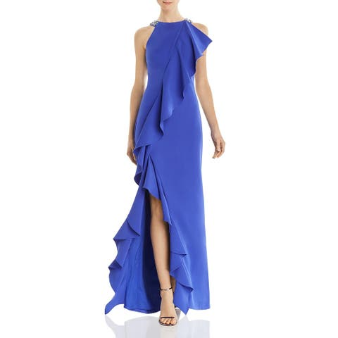 Eliza J Womens Evening Dress Sleeveless Formal - Blue