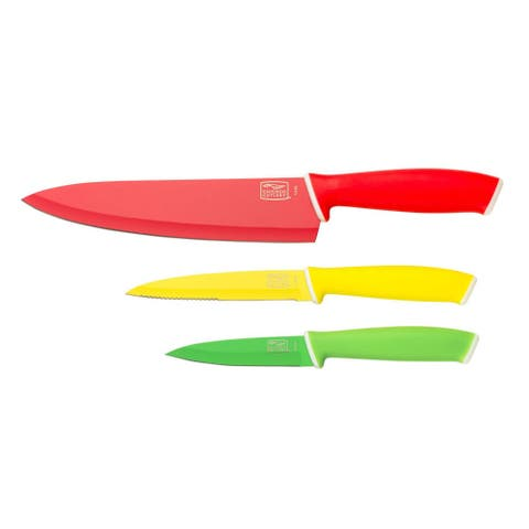 Chicago Cutlery 1106373 Vivid Chef/Utility/Paring Knife Set, 3-Piece
