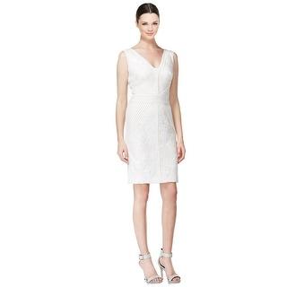 Calvin Klein Sleeveless Sequin Lace V-Neck Bodycon Dress - 12