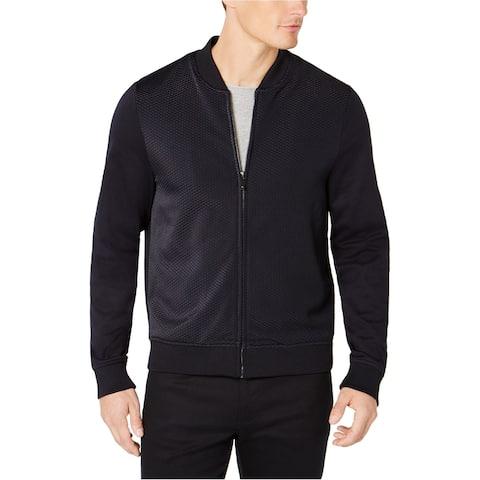 Ryan Seacrest Mens Mix Texture Knit Jacket