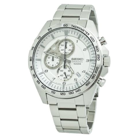 Seiko Men's SSB317 'Chronograph' Chronograph Stainless Steel Watch - Silver