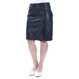 ANNE KLEIN $199 Womens New 1272 Black Knee Length Pencil Casual Skirt 4 B+B