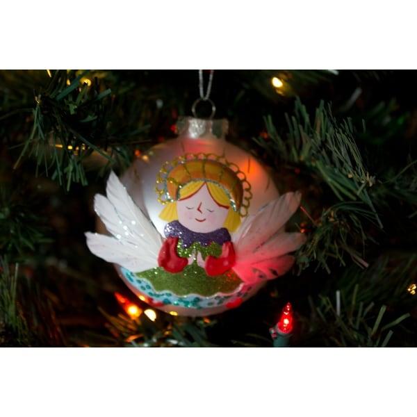 Silvestri Lisa Frost Praying Angel Ball Ornament