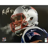 Rob Gronkowski Signed 16x20 New England Patriots Stare Photo JSA
