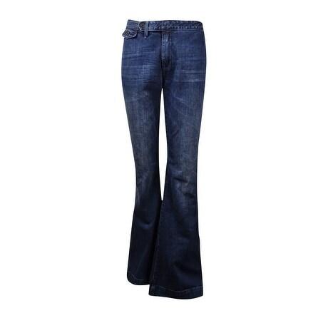 c6ec64859 Shop Polo Ralph Lauren Women s Flared Denim Trousers (29