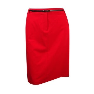 Calvin Klein Women's Plus Size Belted Solid Pocket Skirt - 18W