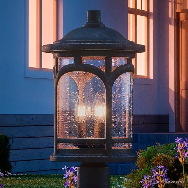 Luxury Rustic Outdoor Post Light 19 H X 11 W With Colonial
