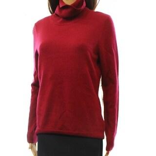 Designer NEW Purple Women's Size Medium M Turtleneck Wool Sweater