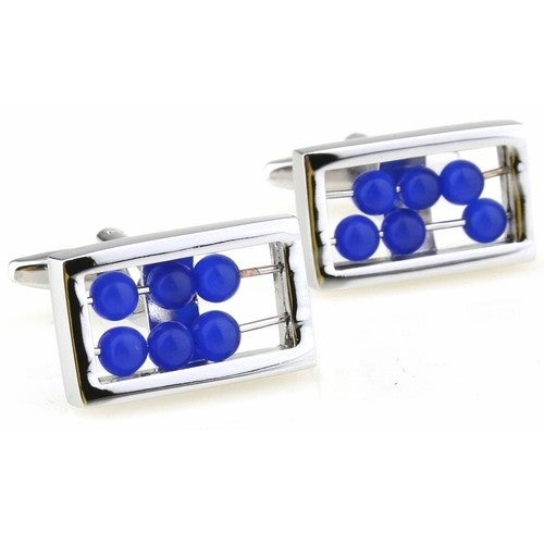 Abacus Blue Counting Cufflinks