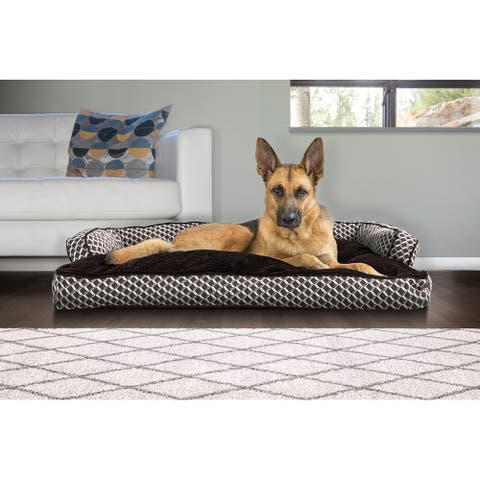 FurHaven Pet Bed Plush & Décor Comfy Couch Pillow Sofa-Style Dog Bed
