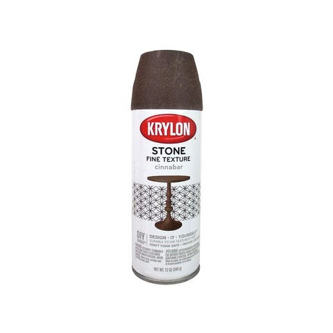3707 krylon natural stone paint 12oz cinnabar