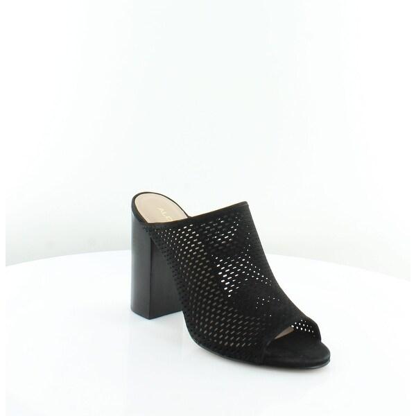 Aldo Thiasa Women's Sandals & Flip Flops Black Nubuck - 9