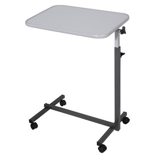 Costway Overbed Rolling Table Over Bed Laptop Tray Tilting Top Gary