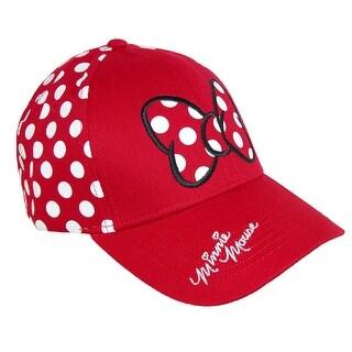 Disney Women's Minnie Mouse Polka Dots Baseball Hat