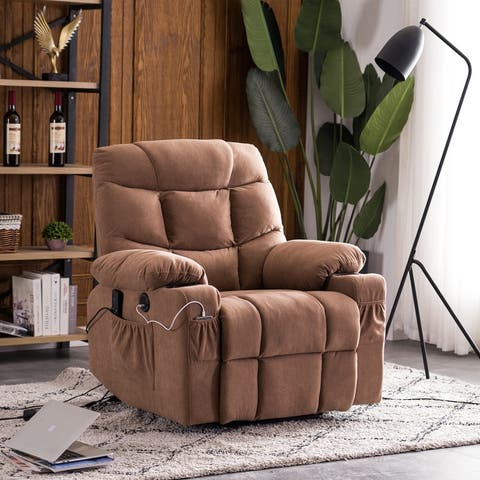 Electric Power Fabric Single Sofa Home Leisure Recliner Chair with Lift Massage Function