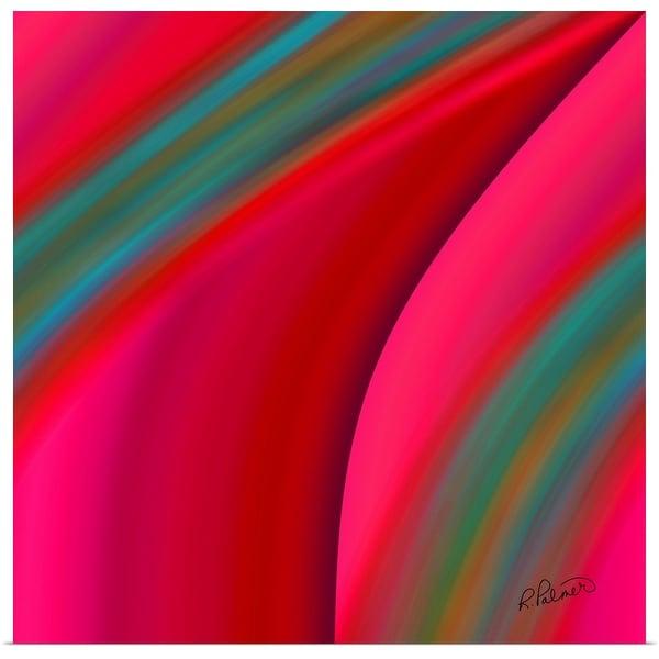 """""""Hot Pink Slide"""" Poster Print"""