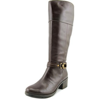 Bandolino Dulla Women Round Toe Leather Knee High Boot