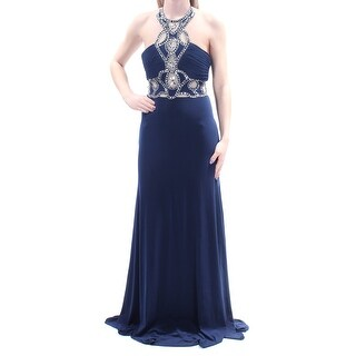 JUMP $229 Womens New 1243 Navy Embellished Sleeveless Sheath Dress 3 Juniors B+B