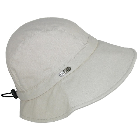 Sun N Sand Women's Cotton Packable Facesaver Hat with Adjustable Toggle