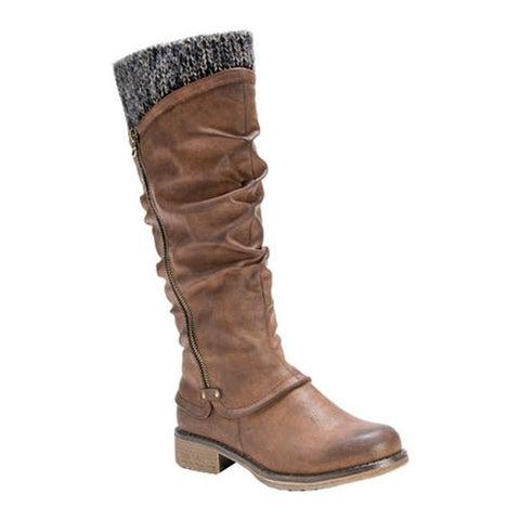 MUK LUKS Women's Bianca Slouch Boot Medium Brown