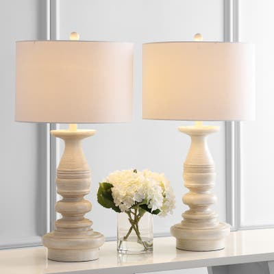 """SAFAVIEH Lighting 29"""" Jareth LED Table Lamp (Set of 2)"""