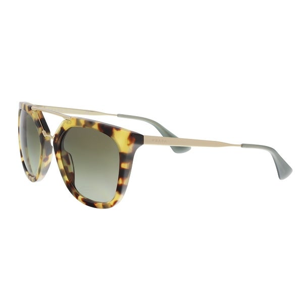 58d16464736fc Prada PR 13QS 7S04M1 Military Havana Green Aviator Sunglasses - 54-20-140