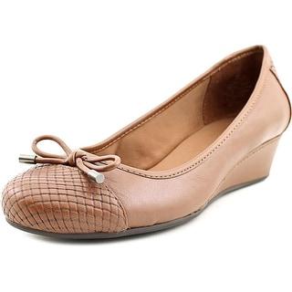 Easy Spirit Davalyn Women Open Toe Leather Brown Wedge Heel