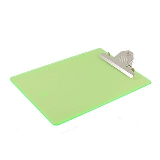 Office Plastic A4 Paper Holder Writing Board Clipboard Clear Green 315 x 230mm