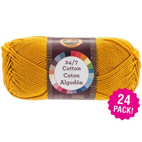 Lion Brand 24/7 Cotton Yarn - 24/Pk-Goldenrod - Orange