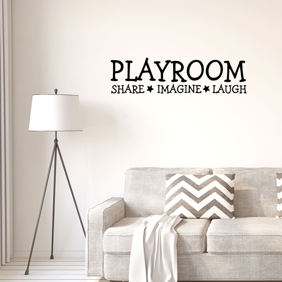 Words Pattern Wall Sticker Removable Art Decal For Living Room Bedroom