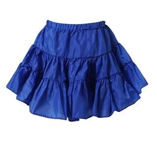 Richie House Little Girls Azure Lightweight Ruffled Skirt 4