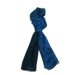 Ungaro UN7018 S8058 Floral Mesh Print Blue Silk Scarf