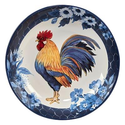 Certified International Indigo Rooster 128 oz. Serving Bowl